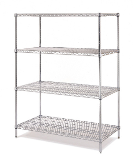 Olympic Shelving Unit, Stationary, Chromate