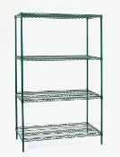 Olympic Shelving Unit, Stationary, Green Epoxy