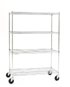 Olympic Shelving Unit, Mobile, Chromate