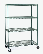 Olympic Shelving Unit, Mobile, Green Epoxy