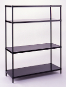 Professionals Choice 4 Solid Shelf Unit - black